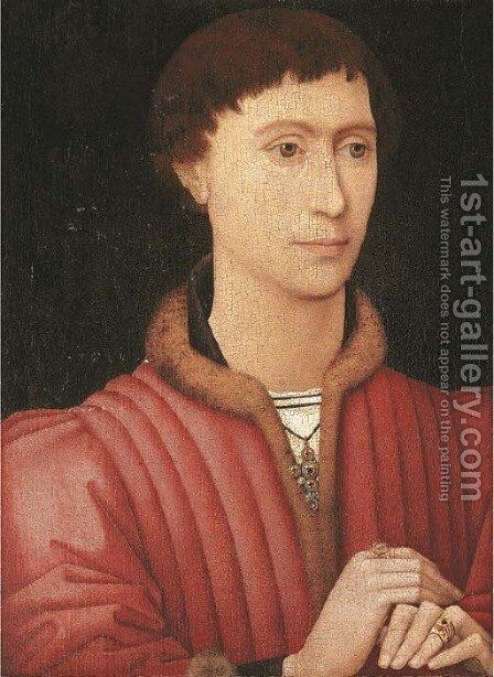 Portrait of a young man by (after) Rogier Van Der Weyden - Reproduction Oil Painting