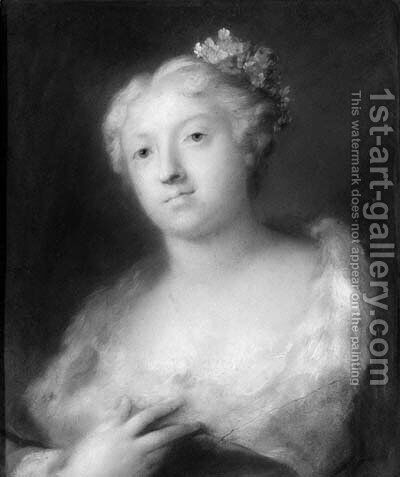 A girl by (after) Rosalba Carriera - Reproduction Oil Painting