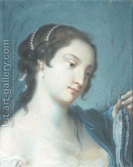 L'Acqua by (after) Rosalba Carriera - Reproduction Oil Painting