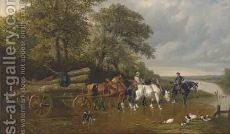 The timber wagon by (after) S. J. Clarke - Reproduction Oil Painting