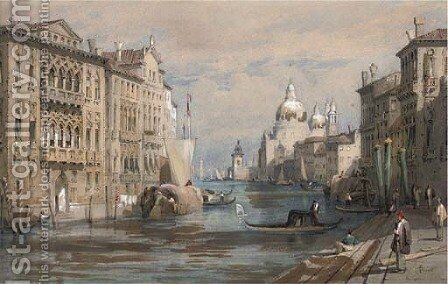 The Grand Canal by (after) Samuel Prout - Reproduction Oil Painting