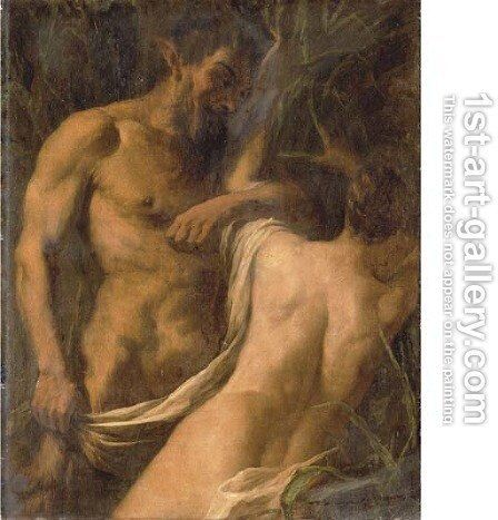 Pan and Syrinx by (after) Sebastiano Ricci - Reproduction Oil Painting