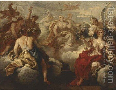 The Feast of the Gods by (after) Sebastiano Ricci - Reproduction Oil Painting