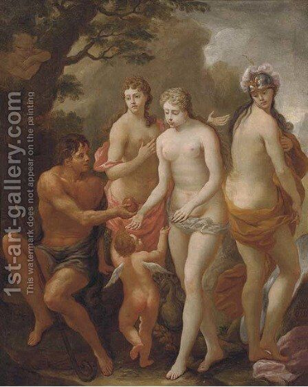 The Judgement of Paris by (after) Sebastiano Ricci - Reproduction Oil Painting