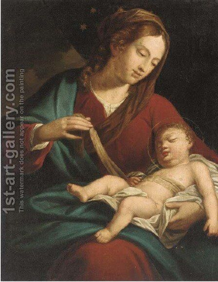 The Madonna and Child by (after) Sebastiano Ricci - Reproduction Oil Painting