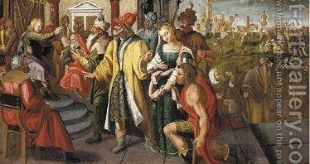 Susannah accused by the Elders by (after) Simon De Vos - Reproduction Oil Painting