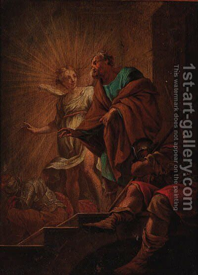The Deliverance of Saint Peter by (after) Simon Vouet - Reproduction Oil Painting