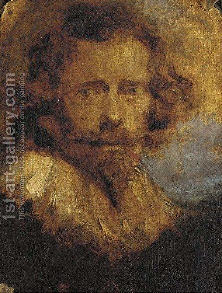 Portrait of a gentleman, small bust-length by (after) Dyck, Sir Anthony van - Reproduction Oil Painting