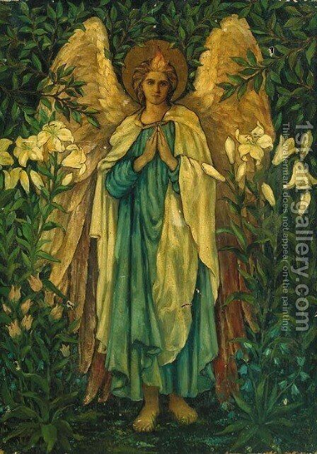 Archangel Gabriel by (after) Sir Edward Coley Burne-Jones - Reproduction Oil Painting