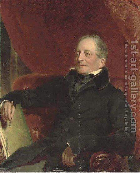 Portrait of an artist by (after) Sir Francis Grant - Reproduction Oil Painting