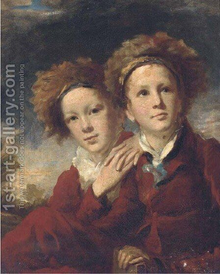 Double portrait of two boys by (after) Sir Henry Raeburn - Reproduction Oil Painting