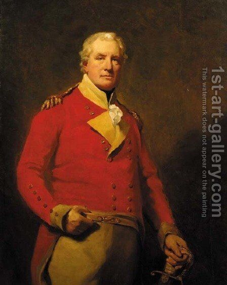 Portrait of Lieutenant-General Alexander Mackenzie Fraser of Inverallochy, M.P. (c.1758-1809) by (after) Sir Henry Raeburn - Reproduction Oil Painting