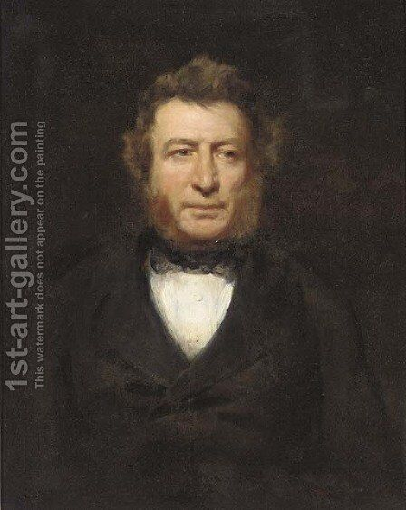 Portrait of a gentleman by (after) Sir Hubert Von Herkomer - Reproduction Oil Painting