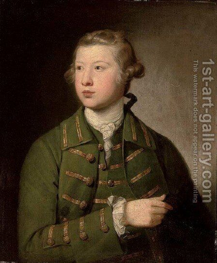 Portrait of a young man by (after) Sir Joshua Reynolds - Reproduction Oil Painting