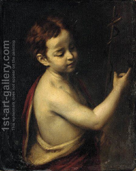 The Infant Saint John the Baptist by (after) Sir Joshua Reynolds - Reproduction Oil Painting