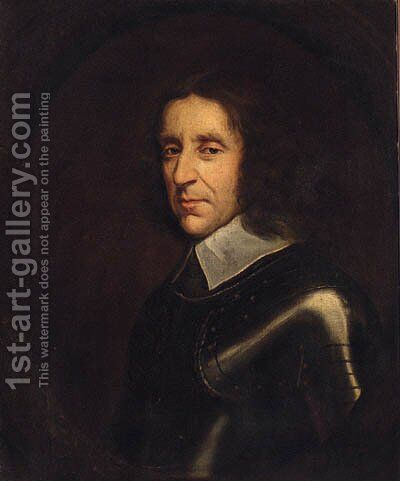 Portrait Of A Gentleman by (after) Sir Peter Lely - Reproduction Oil Painting