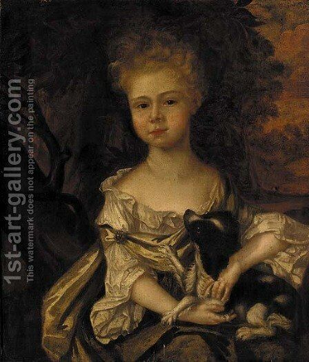 Portrait of a girl by (after) Sir Peter Lely - Reproduction Oil Painting