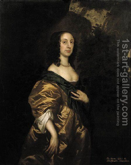 Portrait of Elisabeth Harvey, wife of Heneage Finch (circa 1647-1719) by (after) Sir Peter Lely - Reproduction Oil Painting