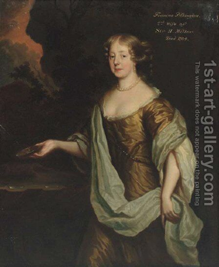 Portrait of Frances Pilkington by (after) Sir Peter Lely - Reproduction Oil Painting