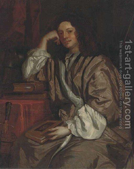 Portrait of Thomas, 1st Lord Clifford by (after) Sir Peter Lely - Reproduction Oil Painting