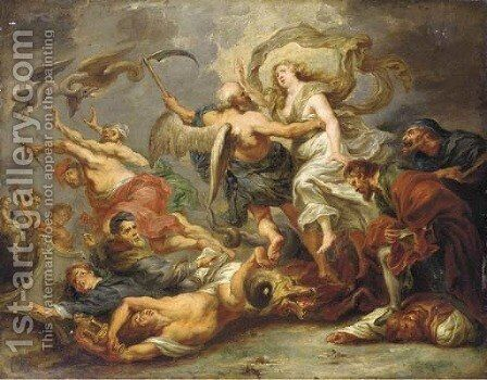 The Victory of Eucharistic Truth over Heresy by (after) Sir Peter Paul Rubens - Reproduction Oil Painting