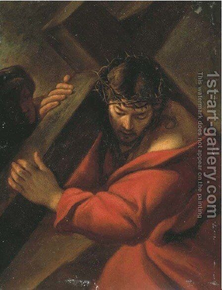 Christ on the Road to Calvary by (after) Sisto Badolocchio - Reproduction Oil Painting