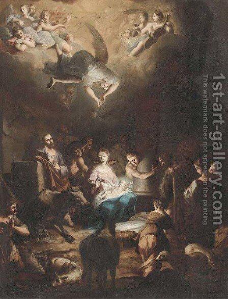 The Adoration of the Shepherds by (after) Stefano Maria Legnani - Reproduction Oil Painting