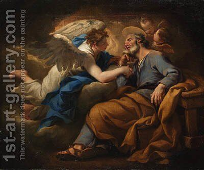 The Dream of Saint Joseph by (after) Stefano Maria Legnani - Reproduction Oil Painting