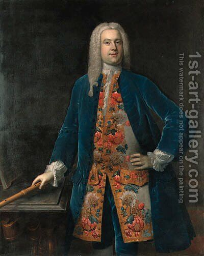 Portrait of a Gentleman, traditionally identified as George Frederick Handel by (after) Stephen Slaughter - Reproduction Oil Painting