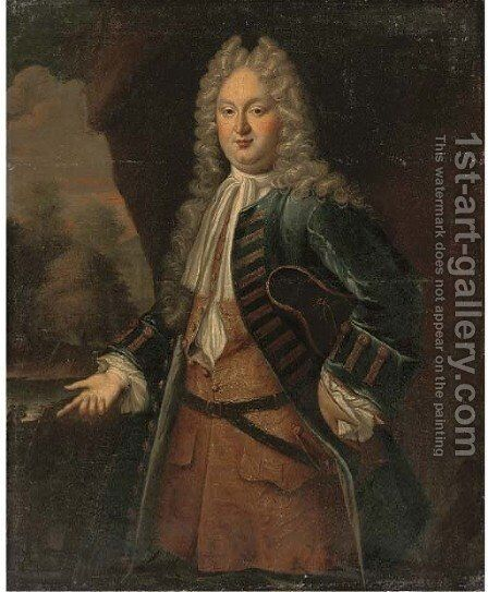 Portrait of a gentleman, traditionally identified as Sir J. E. Wilmott by (after) Stephen Slaughter - Reproduction Oil Painting