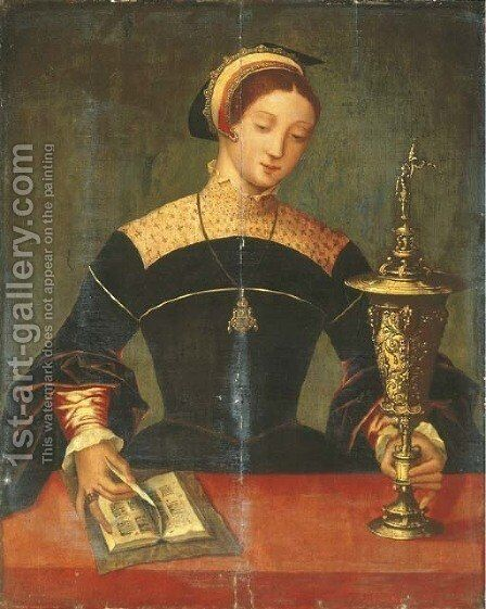 The Magdalen by (after) The Master Of The Female Half-Lengths - Reproduction Oil Painting