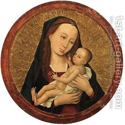 The Virgin and Child by (after) The Master Of The Life Of The Virgin - Reproduction Oil Painting