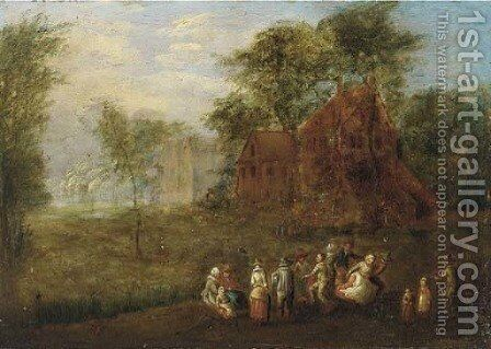 A village kermesse by (after) Theobald Michau - Reproduction Oil Painting