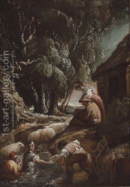 The shepherdess by (after) Thomas Barker Of Bath - Reproduction Oil Painting