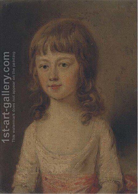 Portrait of a boy by (after) Thomas Hickey - Reproduction Oil Painting