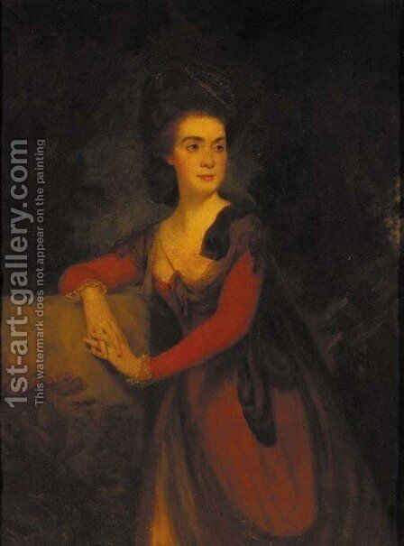 Portrait of Lady MacGregor (d.1830), wife of Sir John MacGregor by (after) Thomas Hickey - Reproduction Oil Painting