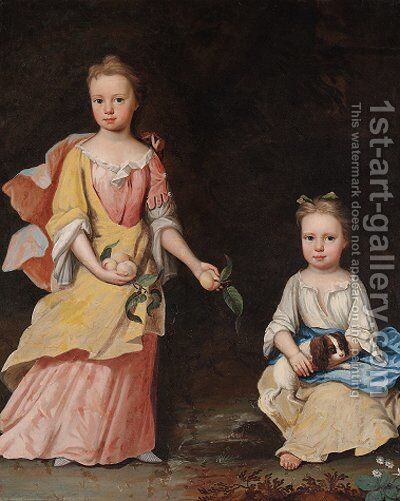 Double portrait of the Misses Woodgate by (after) Thomas Murray - Reproduction Oil Painting