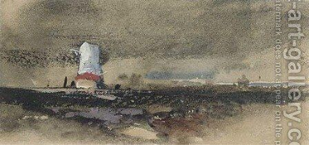 An approaching squall by (after) Thomas Shotter Boys - Reproduction Oil Painting