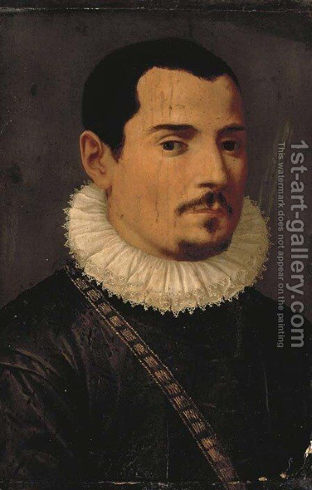 Portrait of a gentleman by (after) Da San Friano Maso - Reproduction Oil Painting