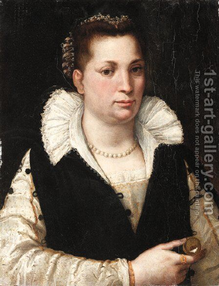 Portrait of a lady by (after) Da San Friano Maso - Reproduction Oil Painting