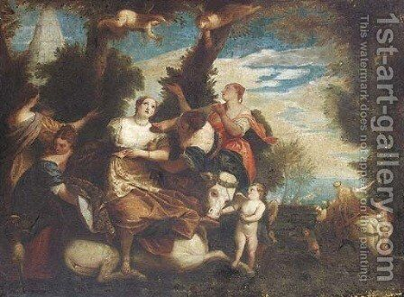 The Rape of Europa, after Paolo Veronese by (after) Valentin Lefebvre - Reproduction Oil Painting