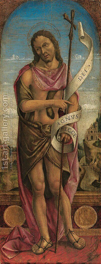 Saint John the Baptist by (after) Vincenzo Foppa - Reproduction Oil Painting