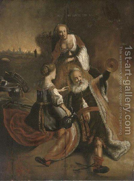 Lot and his daughters by (after) Willem De Poorter - Reproduction Oil Painting