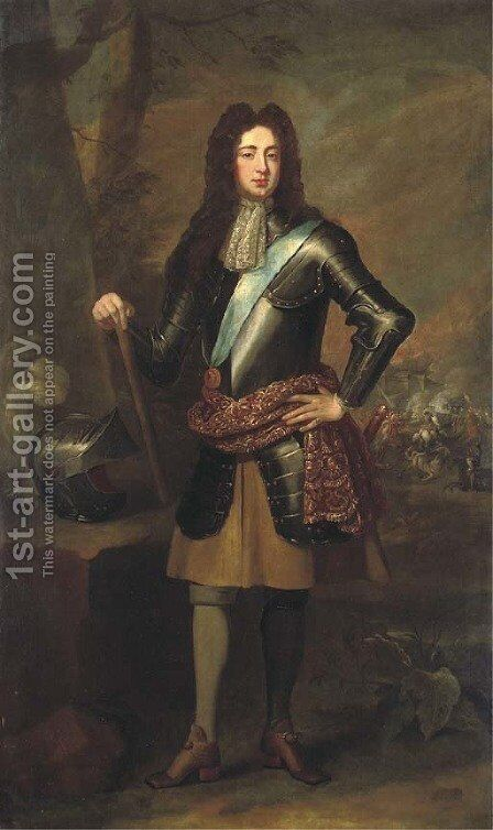 Portrait of James Scott, Duke of Monmouth and 1st Duke of Buccleuch (1649-1685) by (after) William Wissing Or Wissmig - Reproduction Oil Painting