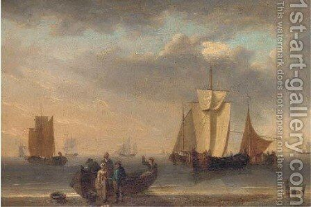 Unloading the catch by (after) William Anderson - Reproduction Oil Painting