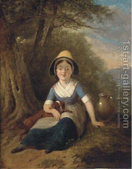 The little water-maid by (after) William Collins - Reproduction Oil Painting