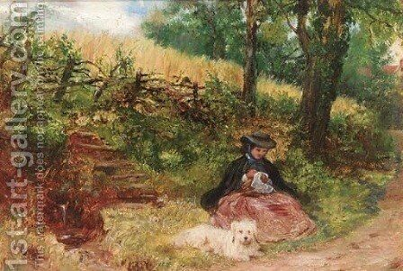 A rest on the wayside by (after) Dyce, William - Reproduction Oil Painting