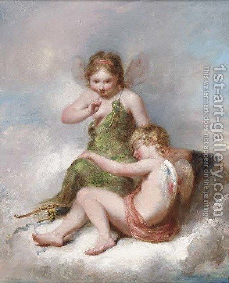 The sleeping cupid by (after) William Edward Frost - Reproduction Oil Painting