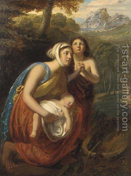 The finding of Moses by (after) William Etty - Reproduction Oil Painting