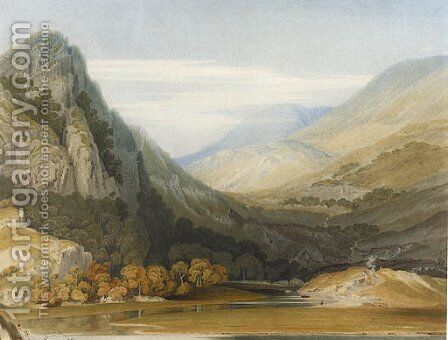 Near Beddgellert, North Wales by (after) William Havell - Reproduction Oil Painting